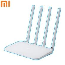 Novo xiaomi mi wifi roteador 4c 64 ram 300mbps 2.4g 802.11 b/g/n 4 antenas banda roteadores sem fio wifi repetidor app controle