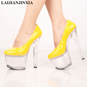 New 17cm sexy super high heels, platform shoes with crystal shoes, high-heeled shoes and women's Dance Shoes