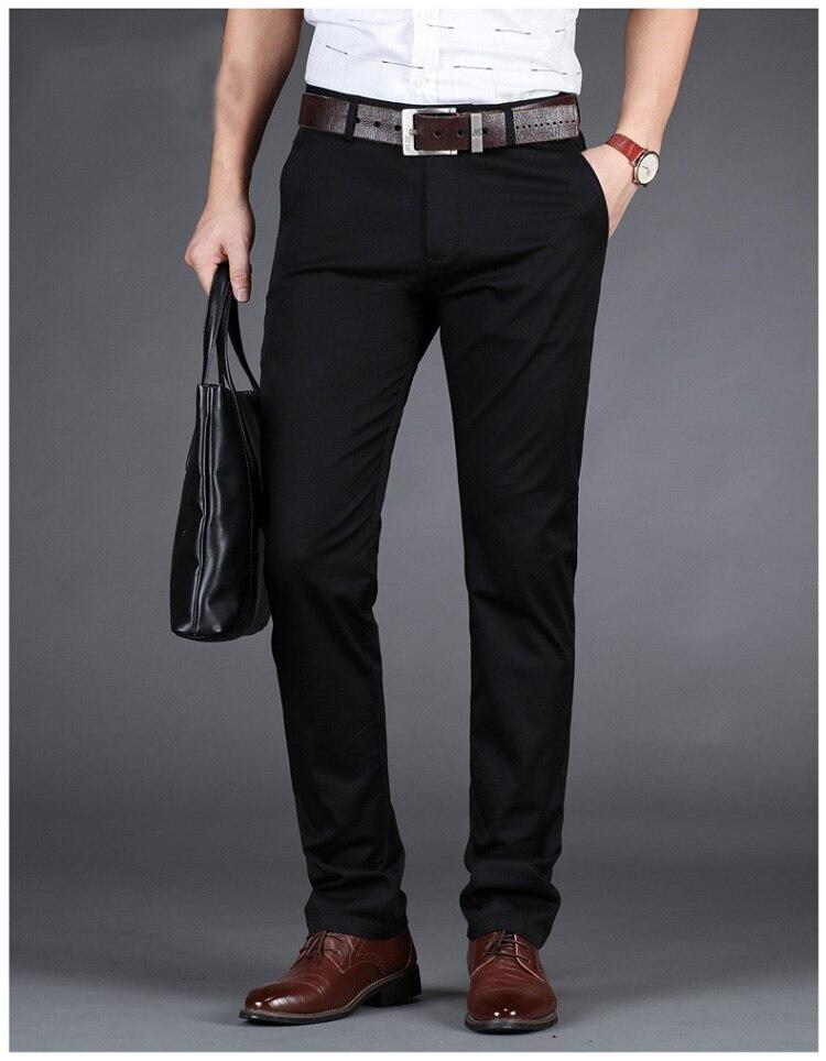Eden Faconnable Slim Fit Homme Long Pants Stretch Trousers Men's High Quality Business Classic Casual Clothes Fashion Park