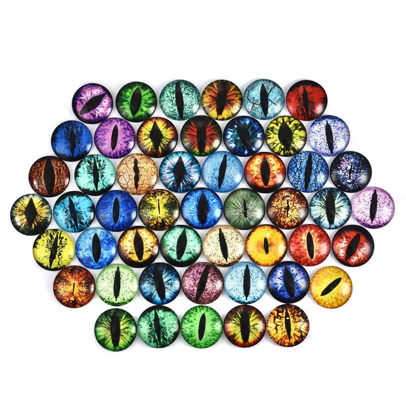 50PCS Round Glass Dome Cabochon Flatback Cameo Jewelry Beads 12MM 20MM 25MM