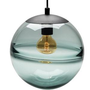 Image 4 - הפוסטמודרנית איטלקי עיצוב כחול זכוכית גלוב תליון אורות עבור וילה חדר שינה קפה חנות מנורת אופנה מושעה led luminaire
