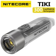 NITECORE TIKI GITD TIKI LE 300 키체인 라이트, 100% 오리지널 루멘 미니 미래적 USB 충전식