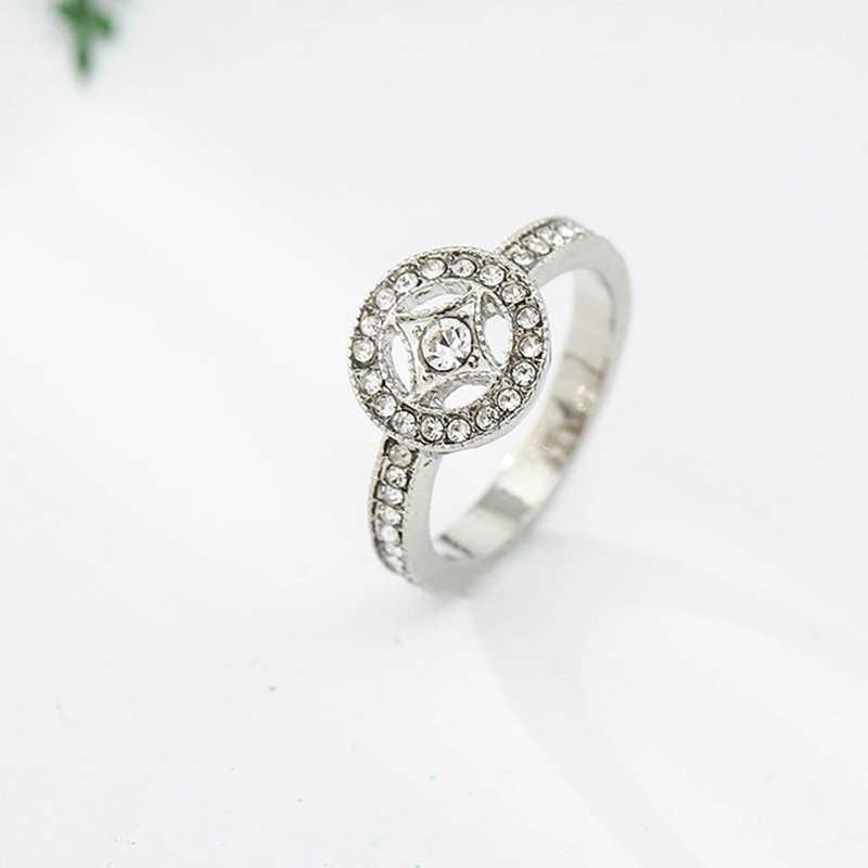 BAOPON 2019 ใหม่แฟชั่นแหวนเงินซ้อนทับได้ CZ Zircon Fine แหวนผู้หญิงภรรยาแบรนด์เดิมเครื่องประดับของขวัญ