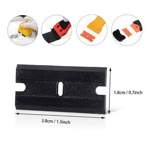 Image 5 - FOSHIO película opaca para ventana, rascador adhesivo + 100 Uds. De cuchillas de plástico, espátula de limpieza para horno de vidrio y cerámica, herramienta para envolver pegamento