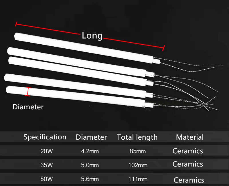 Elemento de aquecimento interno adaptador de solda cerâmica aquecedor de ferro de solda elétrica temperatura ajustável 220 v 110 v 20 w 35 w 50 w