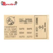 Rowsfire – autocollant en métal doré, 1 pièce, décoration de jouet pistolet, pour cartouche émetteur-récepteur de balle d'eau