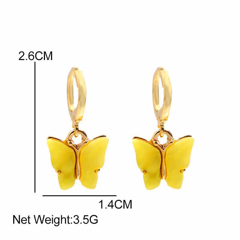 JJFOUCS mode papillon boucles d'oreilles femmes acrylique papillon boucles d'oreilles 2019 Simple Animal boucles d'oreilles femmes bijoux accessoires