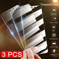 3Pcs Completa Della Copertura di Vetro Temperato per Xiaomi Redmi Nota 7 6 5 8 Pro 5A 6 Protezione Dello Schermo per redmi 5 Più 6A Pellicola di Vetro di Protezione
