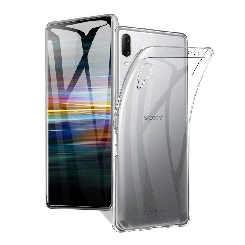 Мягкие чехлы для телефонов из ТПУ для sony Xperia L3, прозрачный силиконовый чехол, ультратонкий прозрачный противоударный чехол для телефона L4312 ...
