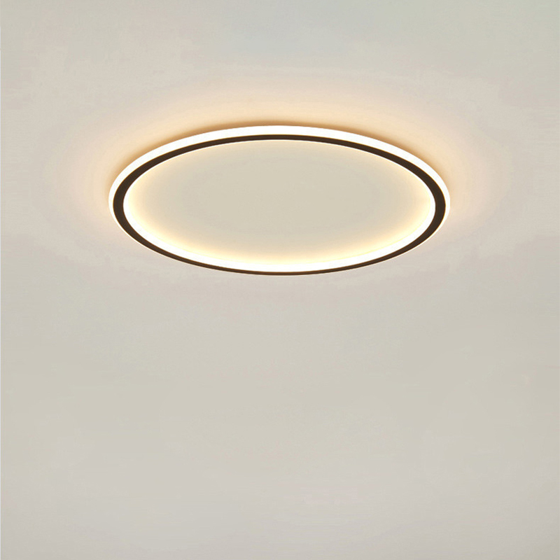 Design Lamp Ceiling Lamp Kitchen Bedroom Dia 30/40/50 Cm Modern Round Ceiling Lights Fixtures For Living Room Black White