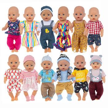 Wysokiej jakości kombinezon ubranka dla lalki pasuje 17 cali 43cm ubranka dla lalki urodzone dzieci ubranka dla lalki na urodziny dziecka festiwal prezent tanie i dobre opinie ZISHWAW Cloth CN (pochodzenie) Unisex Moda Akcesoria Suit Akcesoria dla lalek