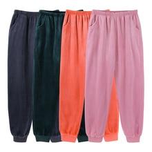 Flannel Pajam Pants Women Winter Warm Sleep Bottoms Lounge P