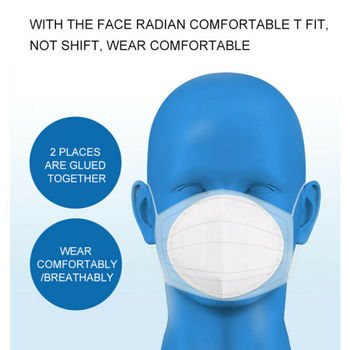 10PCS Disposable Protective Face Mask Gasket Anti Virus Flu Face Mask Filter Pad Scarf