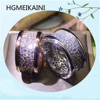 HGMEIKAINI 925% pure silver ring in Europe and the original authentic inlay zircon high end jewelry lovers gift