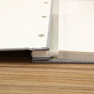 Image 4 - Linen Cover Picture Album Self adhesive Film DIY Handmade Scrapbook Memory Photo Book Sticky Type Grey Home Decor