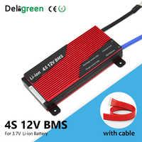 Deligreen 4S BMS 80A 100A 120A 200A 12V BMS con puerto separado común para 3,7 v li-ion litio 18650