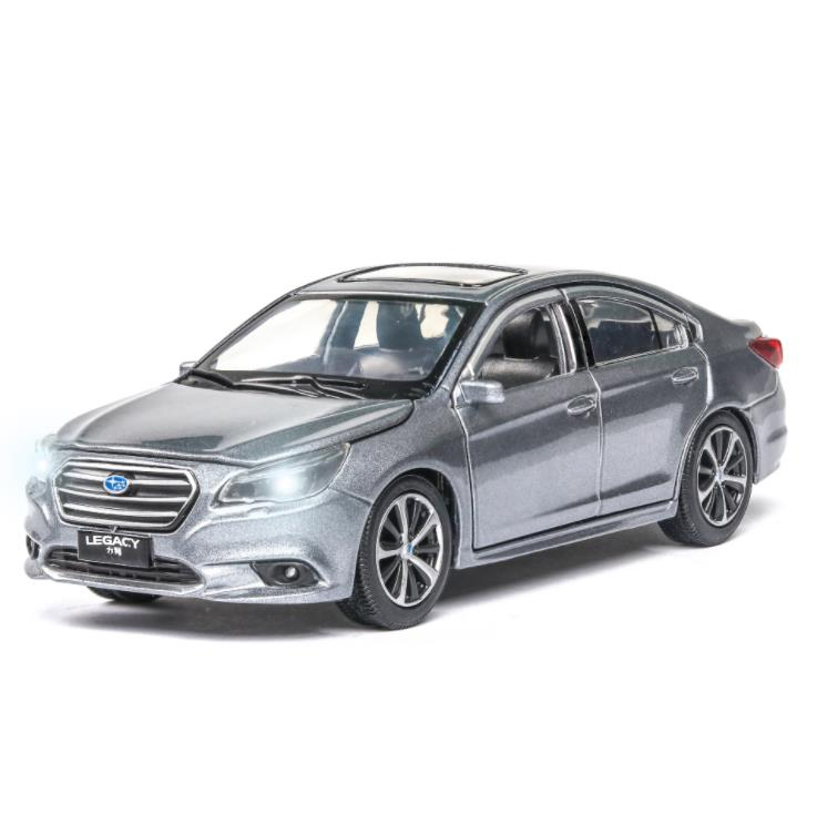 Scale 1:32 SUBARU LEGACY Alloy Sports Car Diecast Model Sound & Light Pull Back Cars Toy Children Birthday Hot Gift Wheel