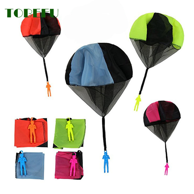 TOBEFU Fun Mini Hand Throwing Outdoor Play Games For Kids Soldier Parachute Toys For Children's Sports Educational Toys Gift