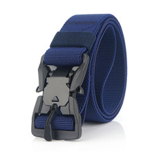 Tactical Belt US Army Magnetic Buckle Nylon Hunting Gear Waist Belts Adjustable Quick Release Airsoft Training