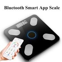 Bluetooth Body Fat Scale BMI Scale Smart USB&Light Energy Electronic Scales Digital Bathroom Weight Scale Balance Body Analyzer