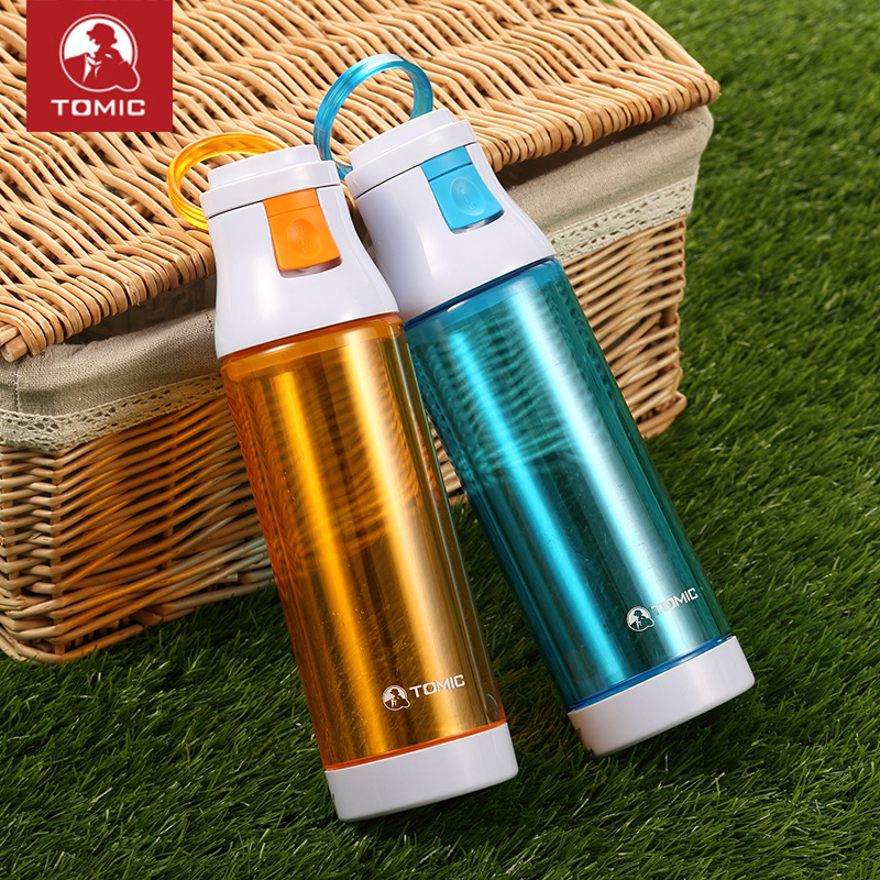 Tomic/Tomic Colorful Insulated Double Layer Glass Sports Bottle Portable Fashion & Sports Glass A Generation Of Fat