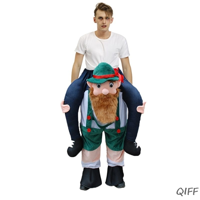 Unisexe drôle cochon dos Cosplay Costume noël Halloween Animal Ride-On pantalon