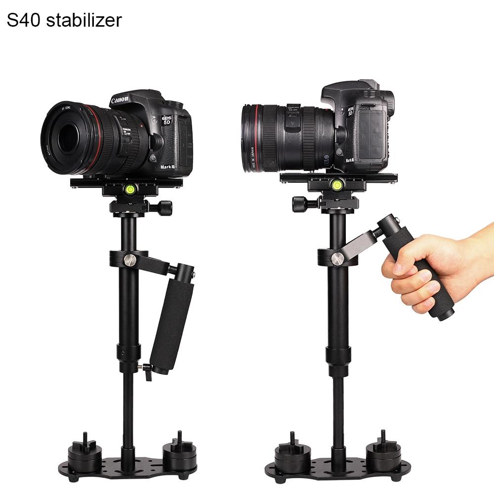 S40 40cm Aluminium Handheld Photography Video Camera Stabilizer Steadycam for Digital Camera DSLR Shooting Steadicam Camcorder