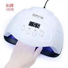 84 Вт Светодиодная УФ лампа для ногтей Электрическая Сушка Для