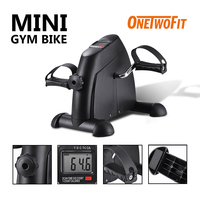 OneTwoFit Indoor Exercise Bike Mini Pedal Stepper Exercise Machine Bike Cycle Fitness With LCD Display Treadmill for Home Office