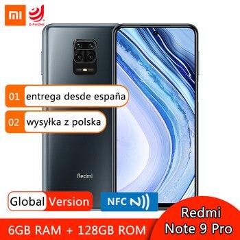 Купить Глобальная версия смартфона Xiaomi Redmi Note 9 Pro 6 ГБ 64 Гб 128 ГБ NFC Snapdragon 720G 64-мегапиксельная четырехъядерная камера 6,67 дюймDotDisplay 5020 мАч
