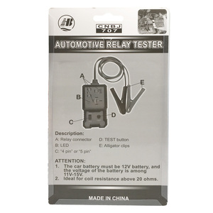 Image 5 - Verificador automotivo eletrônico da bateria do carro do verificador do relé do carro do verificador do relé 4 pinos 5 pinos universal 12v
