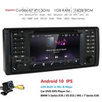 Android 10.0 4G 64G 1 DIN GPS player DVD Navi for BMW Series 5 E39 BMW X5 E53 M5 E38 supports Bluetooth music radio wifi rds obd