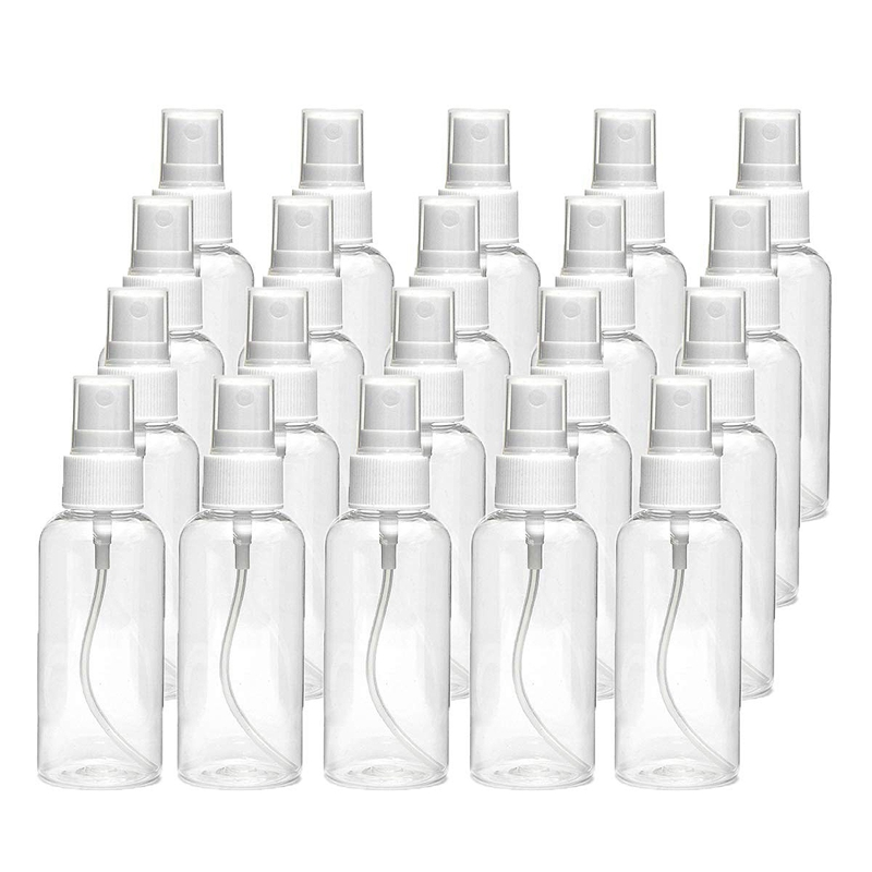 20 PCS 30 Ml(1Oz) Clear Plastic Mist Spray Bottle,Transparent Travel Bottle,Portable Refillable Spray Sprayer Bottle For Travel,