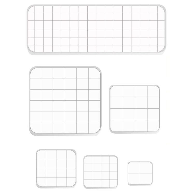 HOT-6 Pieces Assorted Sizes Acrylic Stamp Blocks Clear Stamping Blocks Tools Set With Grid Lines For Scrapbooking Album Card Mak