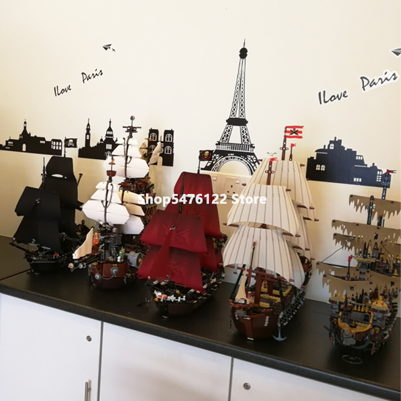 Caribbean Pirate Ship Series In Stock Building Bricks 4184 4195 10210 10241 21313 70618 70810 71042 Moive