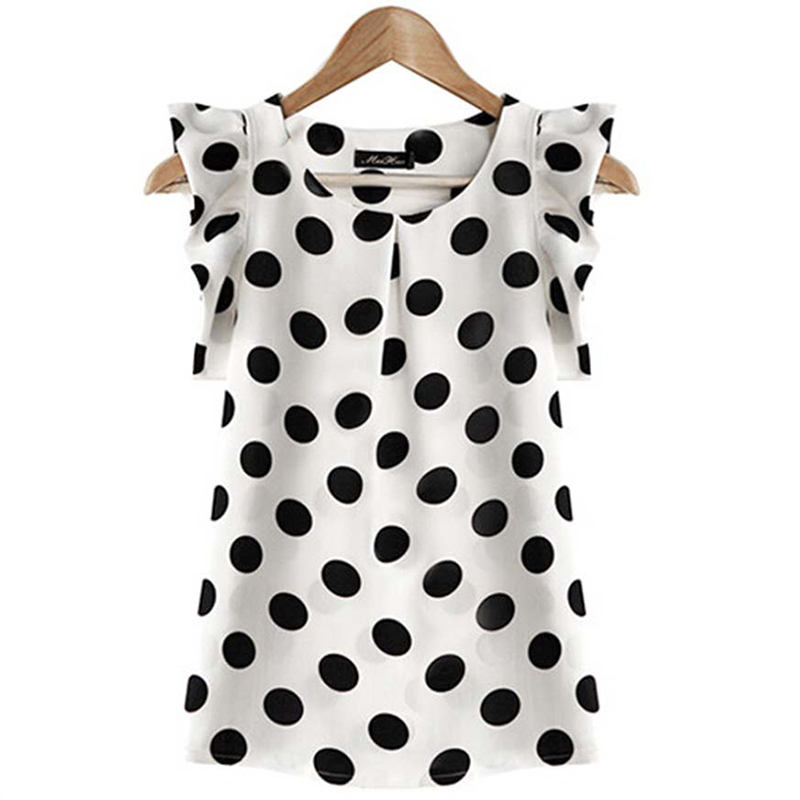 2020 New Fashion Shirts Blouse Short Sleeve Chiffon Lotus Leaf Casual Summer Women Blouses Tops Plus Size Blusas Femininas