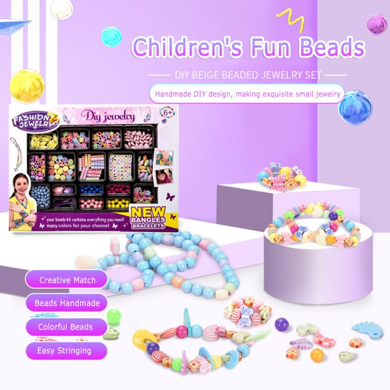 DIY Handmade Beads Toys With Storage Box Creative Girl Accessories Bracelet Jewelry Toys Children's Educational Toy Gifts