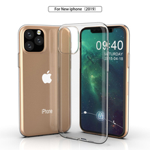 Oppselve Ultra Thin Soft TPU Clear Silicone protective Phone Case For iPhone 11 & Pro Max Transparent Slim Cover Coque