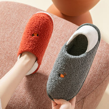 Classic Men and Women Slipper Winter Warm Fur women House Indoor Non-slip Mules Warm Flat Heel Home Indoor Bedroom Male Slippers(China)