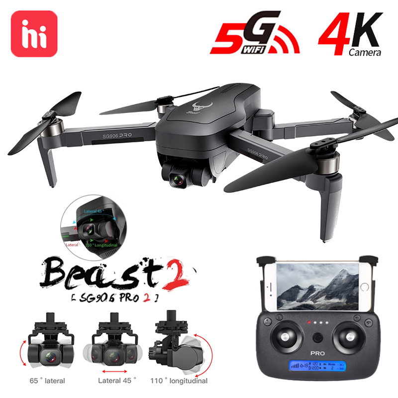 Hipac SG906 Pro 2 Drone 4k GPS with Camera 3 Axis Gimbal Brushless Profissional 800M Wifi 26Min RC Dron 4k GPS Quadrocopter 1