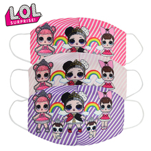 2020 LOL Surprise Dolls Original Anime Washable Cotton Masks Dustproof Breathable Anti-haze Sunscreen Girls Mask Gift