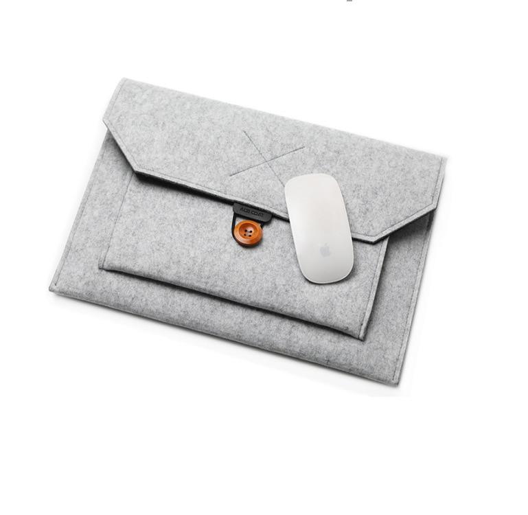 11 12 13 15 Fashion Wool Felt Laptop Sleeve Bag Notebook Handbag Case For Macbook Air Pro Retina Lenovo Asus HP Laptop Liner Bag (12) 副本