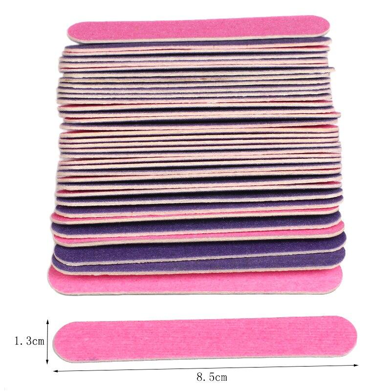 100pcs/Lot Mini Disposable Nail Files Buffer Sanding Block Double Side 180/240 Professional Manicure Pedicure Tool Nail Files