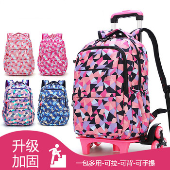 Trolley Children School Bags Mochilas Kids Backpacks With Wheel Trolley Luggage Girls princess backpack Backbag kids Schoolbag kids wheels removable trolley school backpack children school bags girls kids travel bag princess schoolbag mochilas escolares