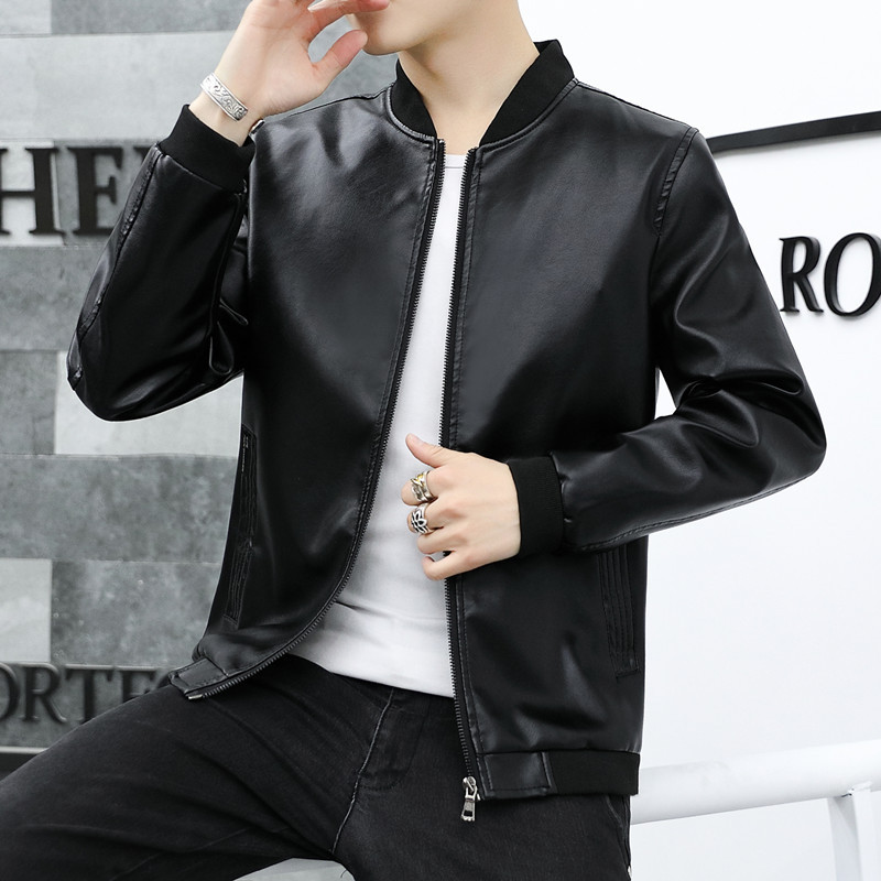 2019 Spring New Style MEN'S Coat Spring And Autumn Jacket Korean-style Slim Fit Men'S Wear Coat Youth Trend Handsome Leather Coa
