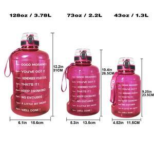 Image 5 - Спортивная бутылка для воды BuildLife, емкость 1,3л 2,2л 3,78л с фиксирующей крышкой, флаконы для занятий спортом, фитнесом, без БФА, большой емкости