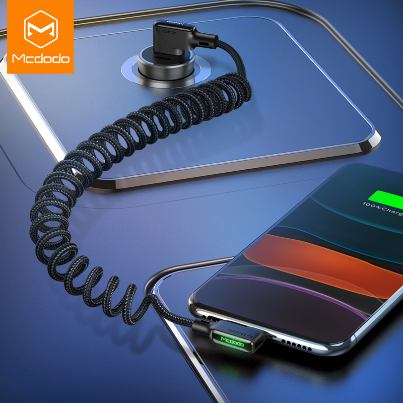 MCDODO 3A USB Cable LED Type C Fast Charging USB C Phone Charger Data Cord For iPhone 12 mini 11 Pro Max Xs 8 7 6 Samsung Xiaomi Mobile Phone Cables    - AliExpress