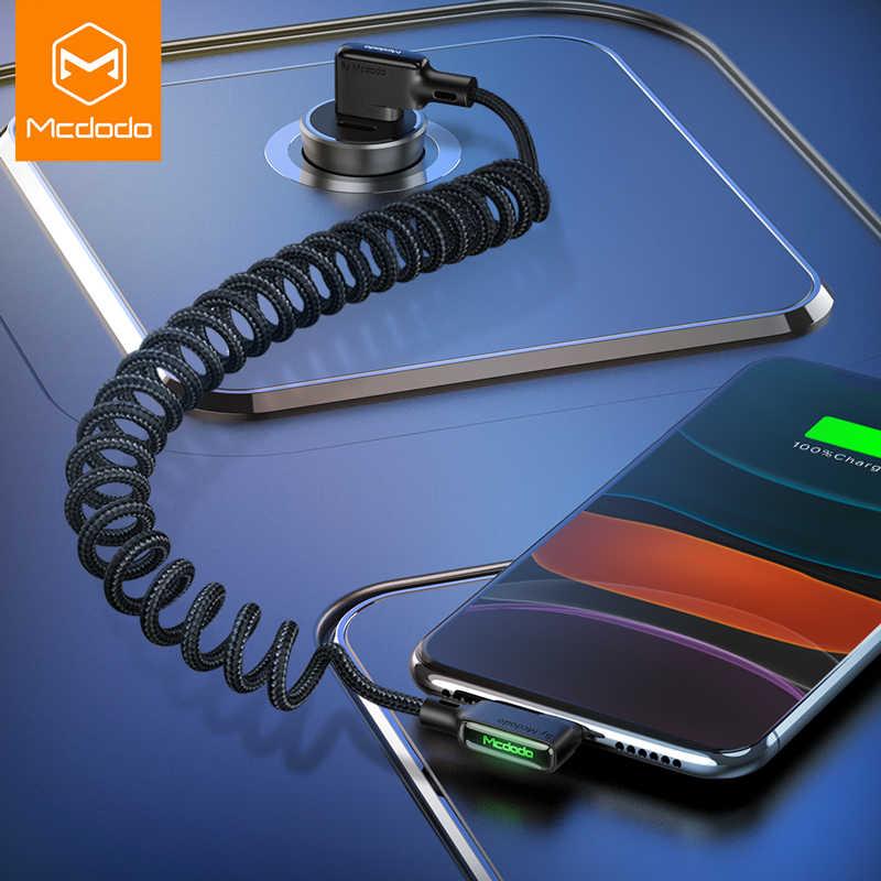 MCDODO 3A USB Kabel LED Typ C Schnelle Lade USB-C Telefon Ladegerät Datenkabel Für iPhone 12 mini 11 Pro max Xs 8 7 6 Samsung Xiaomi