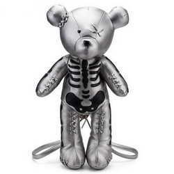 Dropshipping Moda Esqueleto Fêmea de Urso Mochila Estilo Punk Presentes Da Escola Sacos Mochilas De Grife para Meninas Adolescentes