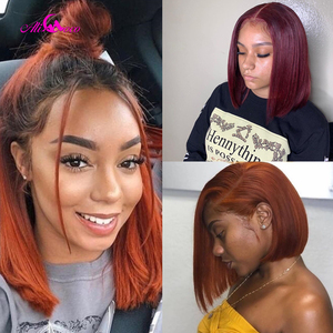 Ali Coco Orange Ginger Short Bob Wigs Lace Front Human Hair Wigs13x4 Human Hair Wigs Brazilian Remy Ombre Bob Lace Front Wigs